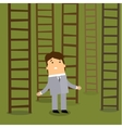 Ladder to success Business choices concept vector image vector image