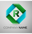 Letter R logo symbol in the colorful rhombus vector image vector image