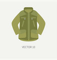 line tile color hunt and camping icon khaki vector image vector image