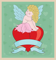 Little Cupid Girl Valentine vector image vector image