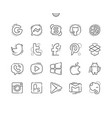 logos well-crafted pixel perfect thin line vector image