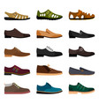 men shoes collection vector image vector image