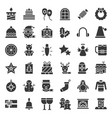 merry christmas related icon set 4 glyph style vector image vector image