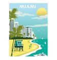 Miami Beach Florida vector image