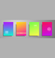 minimal colorful cover template set abstract vector image