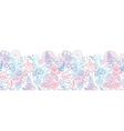 morning colors floral horizontal seamless pattern vector image
