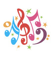 music notes color abstract musical background vector image vector image