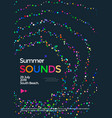 music wave poster design summer sounds flyer vector image vector image