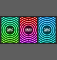 neon original design for cover flyer web page vector image