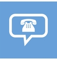 Phone white icon vector image vector image