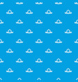 pirate gun pattern seamless blue vector image vector image