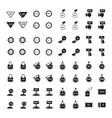 price label set 64 item design vector image vector image