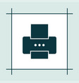printer icon simple vector image vector image