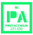 Protactinium chemical element vector image vector image