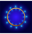 round frame shining circle banner for web and vector image vector image