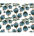 seamless floral background with blue flowers vector image vector image