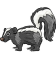 skunk animal cartoon vector image vector image