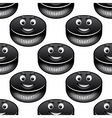 Smiling hockey pucks seamless pattern vector image vector image