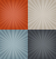 Sunburst Backgrounds Set vector image vector image