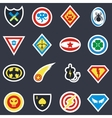 Superhero color badges emblems logos vector image vector image
