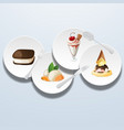 sweets on dish 03 vector image vector image