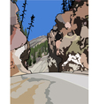 The road among cliffs vector image vector image