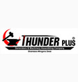 thunder plus logo vector image vector image