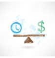 time money balance vector image vector image