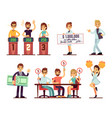 tv show participants people jury showman girl vector image vector image