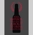 typographic phrase quote beer poster vector image vector image