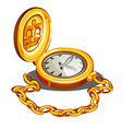 vintage chronometer in a gold case isolated on vector image vector image
