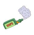 cartoon vape smoking isolated vector image