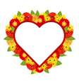 red heart decorated with bright colors vector image