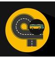 bus transport public endless road vector image