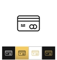 Business or credit card icon vector image