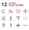 12 direction icons vector image vector image