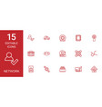 15 network icons vector image vector image