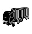 a large truck for the transport of goods vector image
