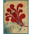 Abstract vintage background with leaf vector image vector image