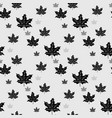 black maple leaves seamless patern vector image