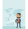 Businessman planning to travel vector image