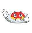 call me spaghetti character cartoon style vector image vector image