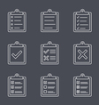 Check List Line Icon vector image vector image