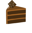 Chocolate cake slice vector image vector image