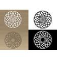circular ornament for napkin or stencil vector image vector image