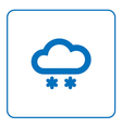 Cloud snow icon vector image vector image