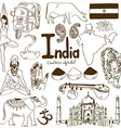 Collection of India icons vector image