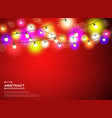 colorful lamps decoration on gradient red vector image