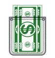 contour pocket and money vector image vector image
