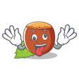 crazy hazelnut mascot cartoon style vector image vector image